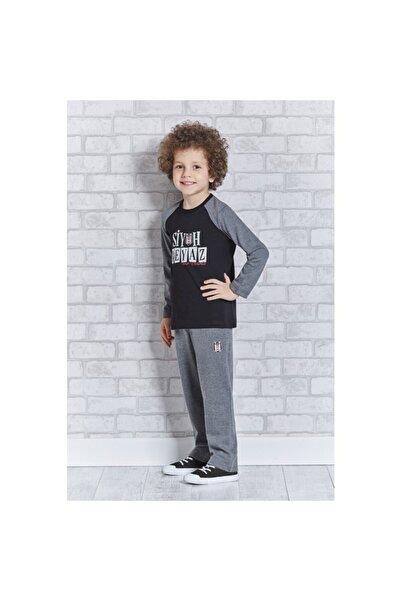 BJK Store Beşiktaş Orijinal Lisanslı Erkek Çocuk Eşofman Takımı Siyah
