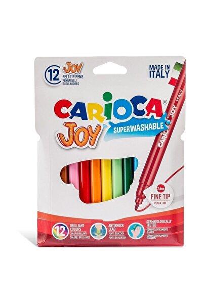 CARIOCA Joy Süper Yıkanabilir Keçeli Boya Kalemi 12'li - 40614