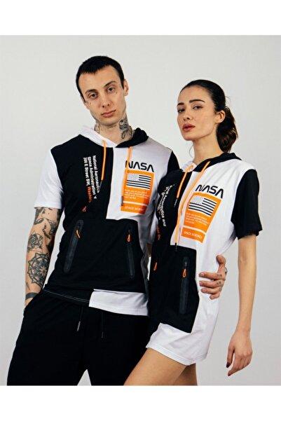 Rocqerx R-5180 Nasa Baskılı Kapüşonlu Kanguru Cepli T-shirt