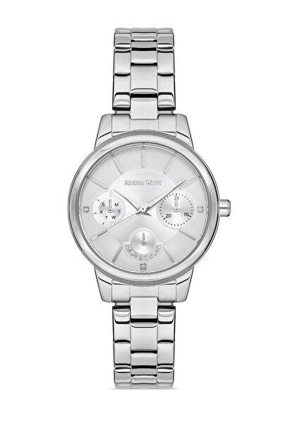North West Gümüş Çelik Kordon Taşlı Kadın Kol Saati ( Resmi Türkiye Distribütör Garantili)