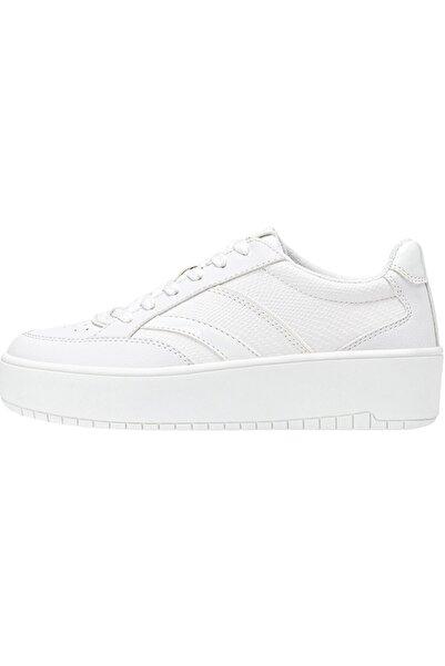 Stradivarius Beyaz Platform Spor Ayakkabı