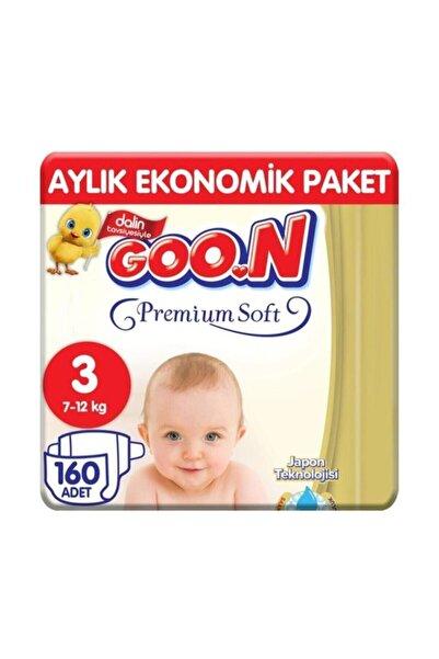 Goo.n Goon Premium Soft Jumbo Paket 4'lü Set 3 Beden 160 Adet