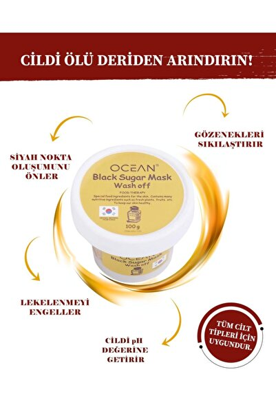 Ocean Black Sugar Mask Wash Off Soft Scrub