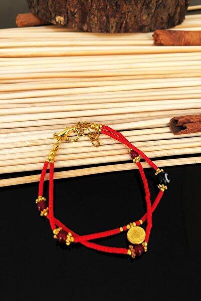 Dr. Stone Dr Stone Doğaltaş el yapımı özel hint boncuğu altın kaplama nepal kadın Bileklik KTDR61
