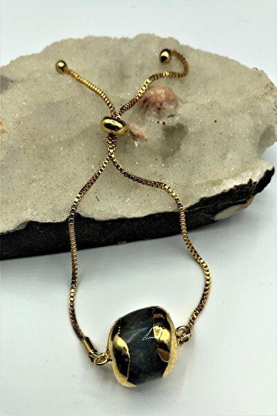 Dr. Stone Dr stone golden  Apatit taşı 22k altın kaplama El yapımı Kadın Bileklik TKRB4
