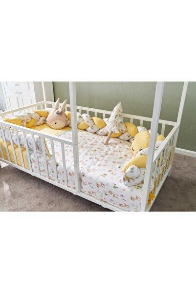 POKY BEBE Montesori Yatak Bebek Uyku Seti Ceylan Figürlü 90x190
