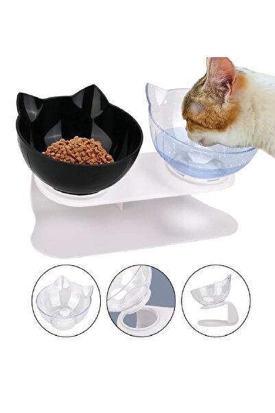 MUCA Kedi Kafalı Ikili Mama Kabı (ŞS)