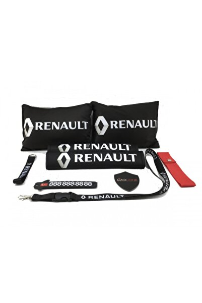 carlone Renault Konfor Seti Siyah - Renault Oto Boyun Yastık Seti Kumaş Uyumlu