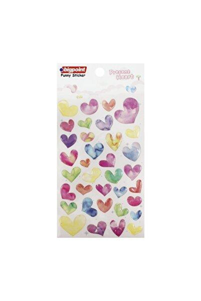 Bigpoint Sticker Çok Renkli Kalpler 15'li Paket