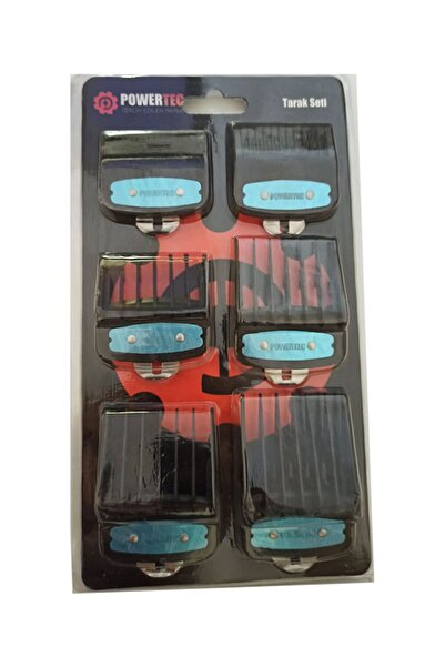 Powertec Tarak Setı 6'lı Siyah