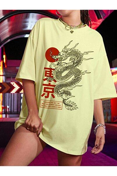 Millionaire Kadın Civciv Sarısı Warrior Oversize T-shirt