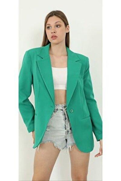 Yeşil Blazer Ceket