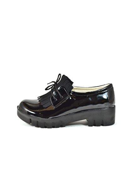 Welch Siyah Rugan Püsküllü Kız Çocuk Okul Ayakkabı