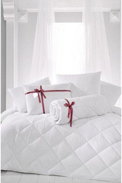 4 HOME Çift Kişilik Antialerjik Lüx Microfiber Yorgan + 2 Adet 850 gr Boncuk Slikon Yastık Seti 4lüxbed