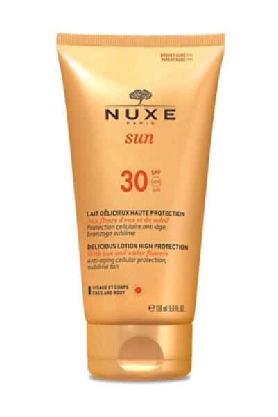 Nuxe Sun Lait Delicieux Protection Bronzlaştırıcı Krem Spf30 150 Ml