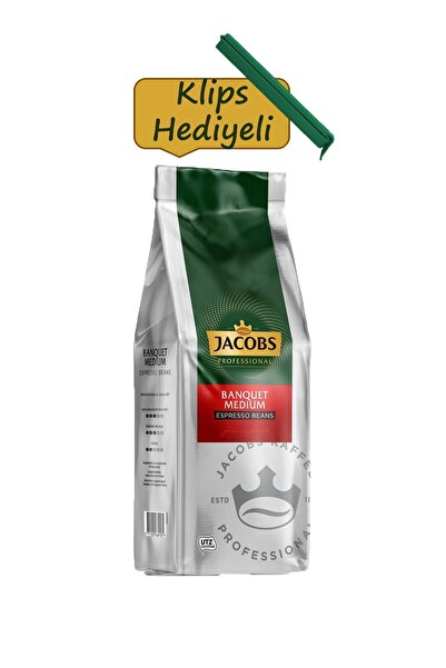 Jacobs Banquet Medium Espresso Beans Çekirdek Kahve 1 Kg