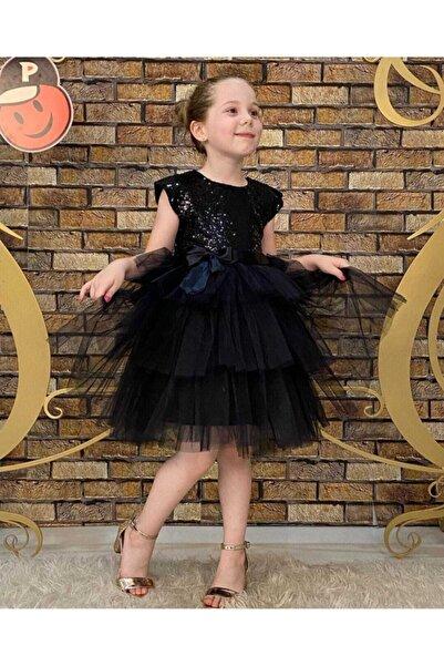 Pumpido Çocuk Elbise Siyah Tütü