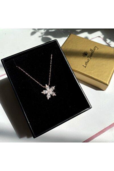 LOTUS JEWELLERY Yıldız Çiçeği Kolye 925 Ayar Gümüş Kolye