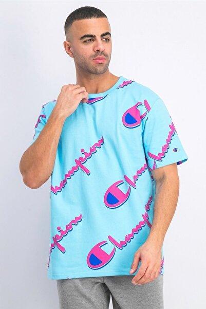 Champion Tshirt Graphic Big Logo Mavi