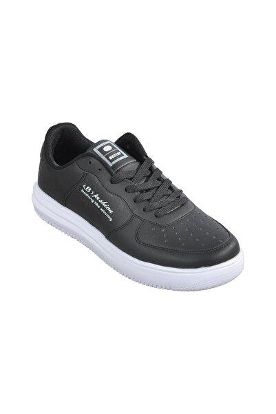 Cheta Best Of 042 Deri Bağcıklı Unisex Spor Ayakkabı Siyah Beyaz