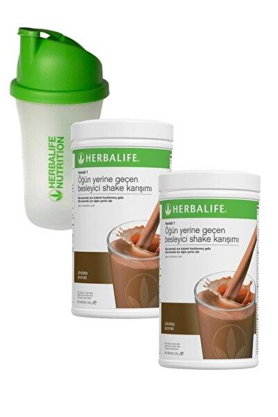 Herbalife Formül 1 Shake Karışım Seti 2 Adet Çikolata 550 gr + Shaker