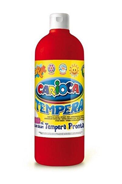 CARIOCA Tempera Boya - Kırmızı (Süper Yıkanabilir) 1000ml - 1350gr / Plastik Şişede /