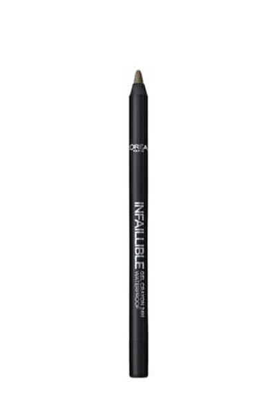 Yeşil Eyeliner - Infaillible Gel Crayon Eyeliner 08 Kaki 3600523351565