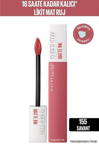 Maybelline New York Super Stay Matte Ink Likit Mat Ruj - 155 Savant - Nude/pembe