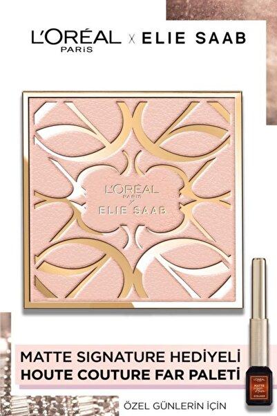 L'Oreal Paris Elie Saab Haute Couture Makyaj Koleksiyonu Far Paleti & Matte Signature Eyeliner 07 Copper Hediye!