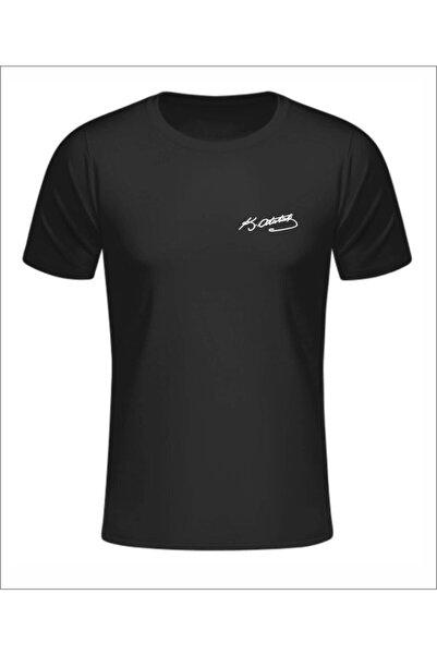 Jan Mayen Unisex Siyah Atatürk İmzalı T-shirt