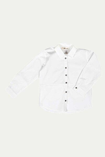 Çikoby Kız Çocuk Taş Düğmeli Cepli Garson Gömlek 7-14 Yaş C19w-ck3917