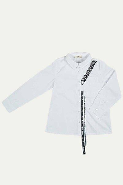 Çikoby Kız Çocuk Love Şeritli Gömlek 7-14 Yaş C19w-ck3881