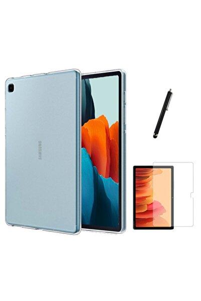 Samsung Galaxy Tab A7 Lite T225 Kılıf Tablet Süper Silikon Kapak Ekran Koruyucu Kalem Set