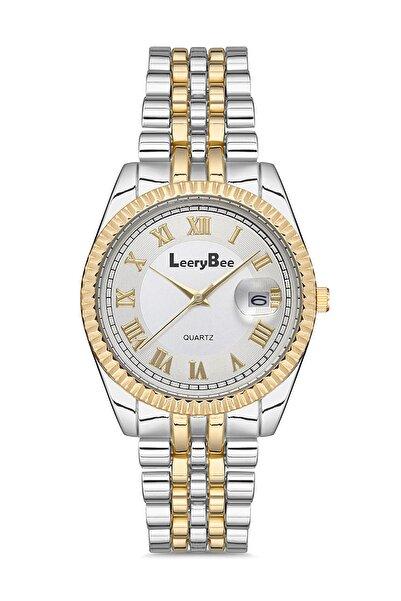 Leerybee Gümüş Renk Kadın Kol Saati