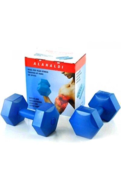 AlanAldı Köşeli Dambıl Ağırlık Seti Fitness Vücut Geliştirme Aleti 8 Kilogram Dumbel Set