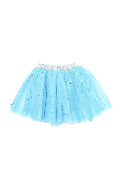 TRENDYOLKIDS Mavi Tütülü Kız Çocuk Örme Etek TKDSS21ET0618