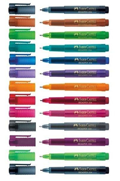 Faber Castell 10 Renk Broadpen Keçeli Kalem 0.8 Mm