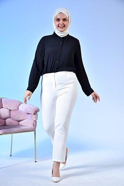 Ferace Kadın Sahte Cep Dar Paça Yazlık Kumaş Pantolon Tesettür Viskon