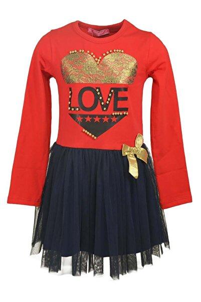 Toontoy Kız Çocuk Tütü Etekli Abiye Elbise Doğum Günü 6-10 Yaş T9435