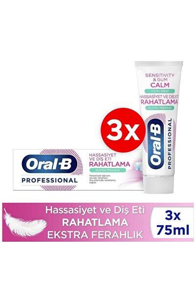 Oral-B Professional Hassasiyet Ve Diş Eti Rahatlama Ekstra Ferahlık Diş Macunu 225ml ( 75ml X 3 )