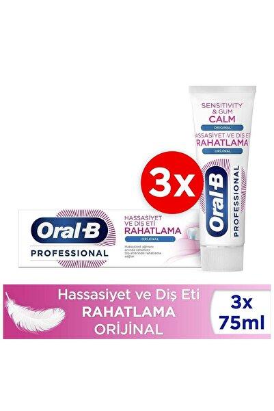 Oral-B Professional Hassasiyet Ve Diş Eti Rahatlama Orijinal Diş Macunu 225ml  75ml X 3