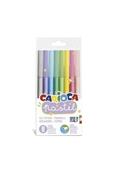 Pastel Renkler Süper Yıkanabilir Keçeli Boya Kalemi 8'li