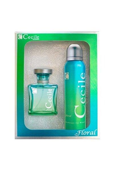 Cecile Floral Edt 100 ml + Deodorant 150 ml Kadın Parfüm Seti 8698438501255
