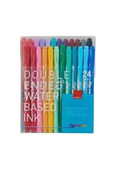 My Color 2 Cift Taraflı Keçeli 24 Renk Set
