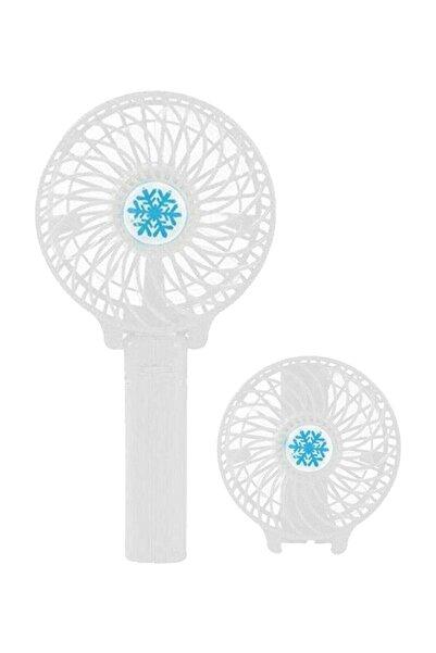 3D Şarjlı Beyaz Mini Fan Masa Üstü Vantilatörü Usb Soğutucu Sessiz El Fanı