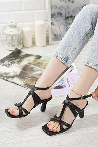 Asia Siyah Kadın Sandalet