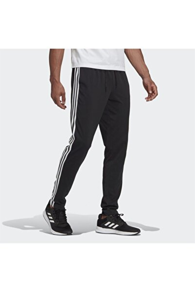 adidas Essentials Single Jersey Tapered Open Hem 3 Stripes Erkek Eşofman Altı