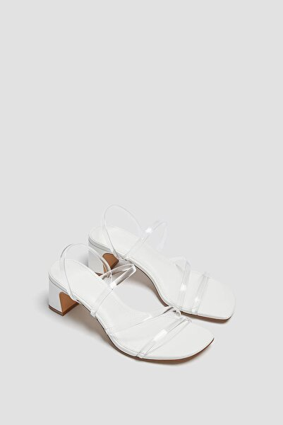 Pull & Bear Vinil Bantlı Topuklu Sandalet