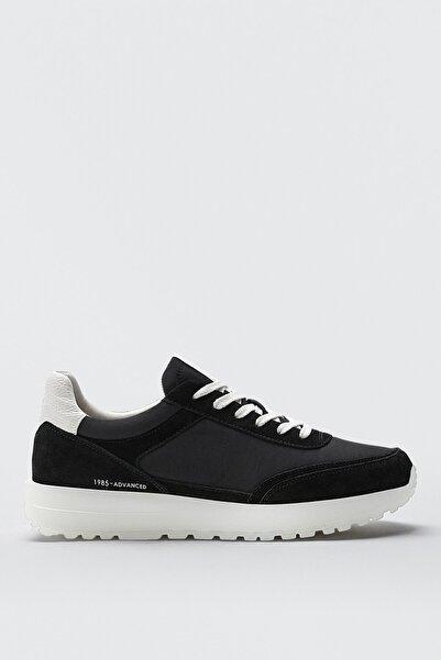Massimo Dutti Kadın Siyah Kontrast Spor Ayakkabı 11382850