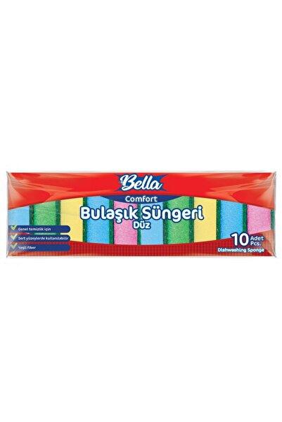 Banat Bella Comfort Renkli Düz Bulaşık Süngeri 10'lu Paket